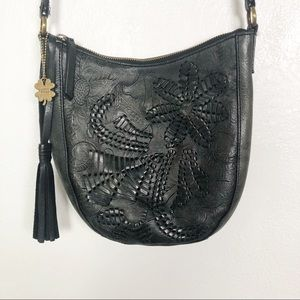 Lucky Brand black leather crossbody bag